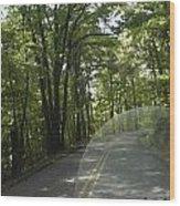 Riding The Woods Of Alabama Wood Print