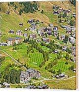 Riederalp Switzerland With Golf Course Wood Print