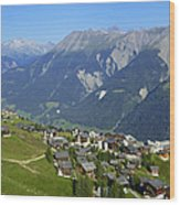 Riederalp Valais Swiss Alps Switzerland Wood Print by Matthias Hauser