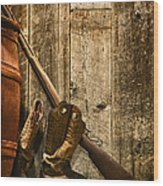 Rifle Wood Print