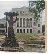 Riga National Opera House Wood Print