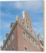 Riga Pink Building Wood Print