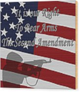 Right To Bear Arms Wood Print
