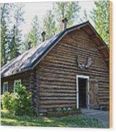 Rika's Barn In Big Delta Historical Park-ak  Wood Print