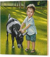 Riley At The Petty Zoo Wood Print
