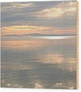 Rileys Bay Door County Sunset Wood Print