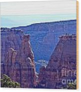 Rim Rock Colorado Wood Print