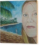 Rincon Girl Wood Print by Frank Hunter
