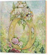 Ring And Rose Wood Print