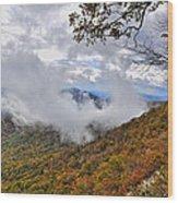 Ring Around The Mountain Wood Print