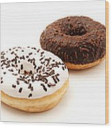 Ring Doughnuts Wood Print