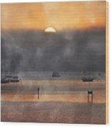 Ringling Misty Morning Wood Print