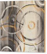 Rings Of Gold Abstract Painting Wood Print