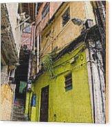 Rio De Janeiro Brazil -  Favela Housing Wood Print