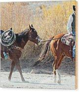 Rio Grande Cowboy Wood Print