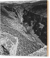 Rio Grande Gorge - Taos New Mexico Wood Print