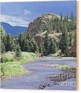 Rio Grande River Landscape Wood Print