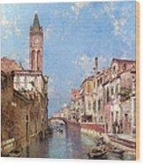 Rio St Barnaba Venice Wood Print