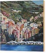 Riomaggiore Glory- Cinque Terre Wood Print
