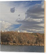 Riparian Zone Snake River Wood Print