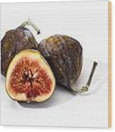 Ripe Figs Isolated Wood Print