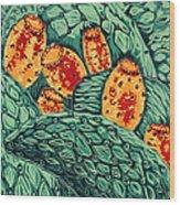 Ripe For Picking Wood Print by Maria Arango Diener