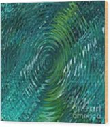 Ripple Sea Glass  Wood Print