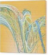 Ripple Yellow Wood Print