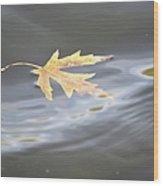 Rippled Maple Leaf Wood Print