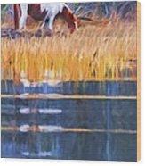 Rippled Reflection Wood Print