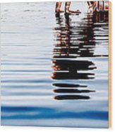Rippled Reflection Wood Print