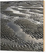 Rippled Sand Wood Print