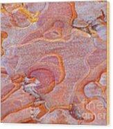 Ripples In Orange Wood Print