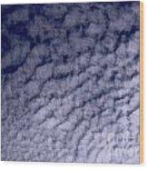 Ripples In The Dark Blue Sky Wood Print