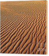 Ripple Patterns In The Sand 1 Wood Print