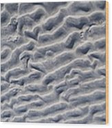 Ripples In The Sand And Surf Wood Print