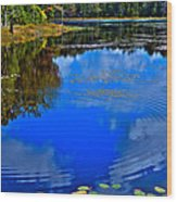 Ripples On Fly Pond - Old Forge New York Wood Print