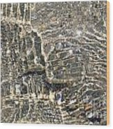 Ripples On The Sea Shore Wood Print