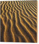 Ripples Oregon Dunes National Recreation Area Wood Print