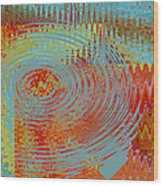 Rippling Colors No 1 Wood Print