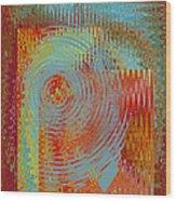 Rippling Colors No 2 Wood Print