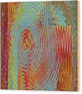 Rippling Colors No 3 Wood Print