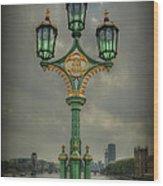 Rise Above City Wood Print