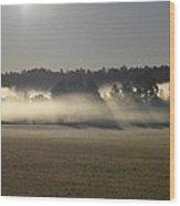 Rising Field Of Fog Wood Print