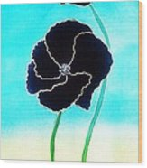 Rising Poppies Wood Print