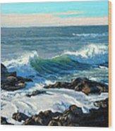 Rising Surf Wood Print