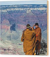 Risk-taking At The Grand Canyon Wood Print