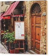 Ristorante In Tuscany Wood Print