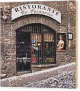 Ristorante La Fornaina. Urbino Wood Print