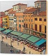 Ristorante Olivo Sas Piazza Bra Wood Print